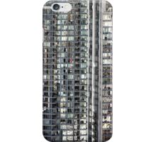 Skyscraper Reflections Detail from Harbour Tower, Vancouver City, Canada iPhone Case/Skin