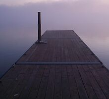 Lakeside- Dock into the Fog by Timothy Eric Hites