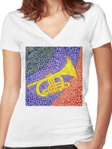 CORONET Women's Fitted V-Neck T-Shirt