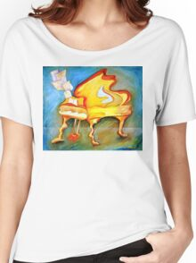 HAPPY PIANO Women's Relaxed Fit T-Shirt