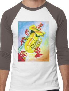PLAYFUL TUBA Men's Baseball ¾ T-Shirt