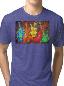 FIVE GUITARS Tri-blend T-Shirt
