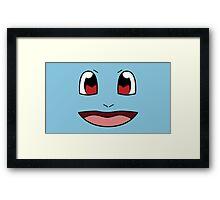 PokéFace - Squirtle Framed Print