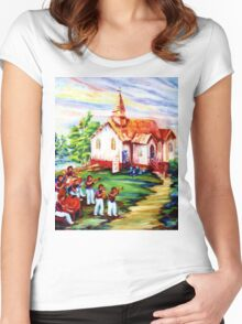 REPAINT Women's Fitted Scoop T-Shirt
