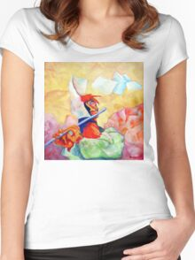 WHISTLING IN THE WIND Women's Fitted Scoop T-Shirt