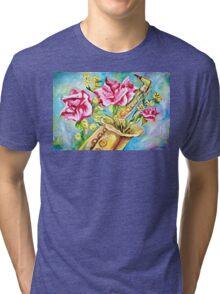 BLOOMING SAX Tri-blend T-Shirt