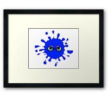 Splatoon - Ink Splat Inkling Eyes Framed Print