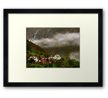 Houses in the hills Framed Print