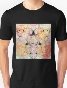 Decorative swirls and Romantic Roses Unisex T-Shirt