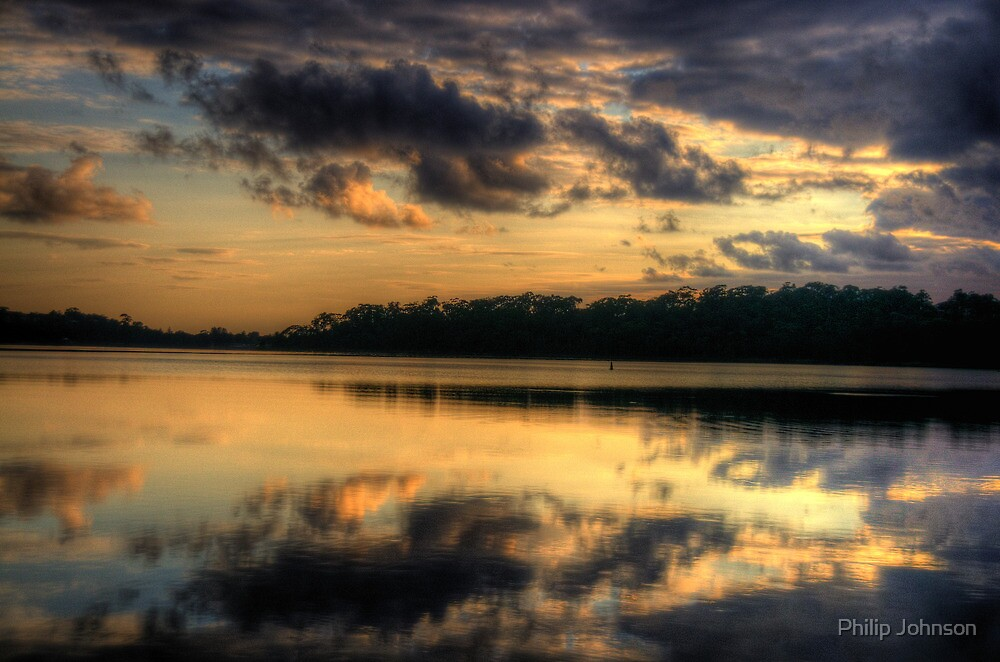 Time For Reflection - Narrabeen Lakes, Sydney - The HDR Experience by Philip Johnson