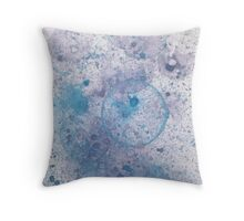 Blue Bubbles 02 Throw Pillow
