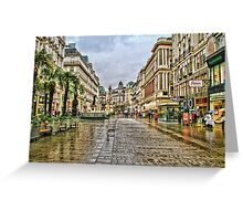 Vienna in the rain Greeting Card