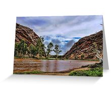 Todd river in flood Greeting Card
