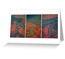 Wet Rock Detail (Triptych) Greeting Card