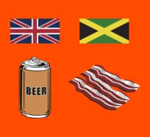 "English ""Beer-Can"" = Jamaican ""Bacon"" Kids Tee"