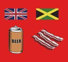 "English ""Beer-Can"" = Jamaican ""Bacon"" Kids Tee"