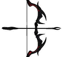 Skyrim Daedric Bow and Arrow by sansasnark