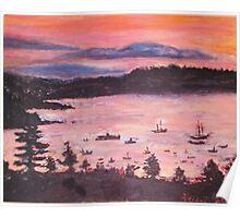 Sunrise At Bar Harbor, Maine Poster