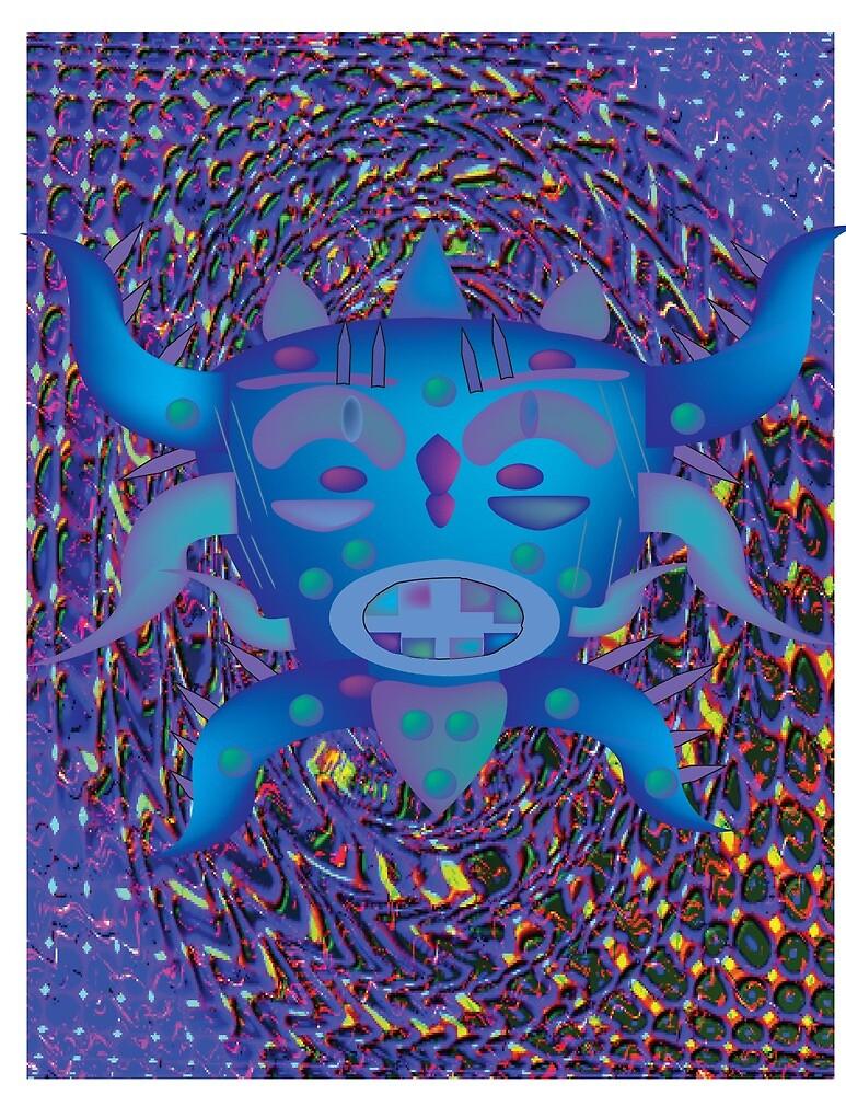 Spiky Blue by jchea