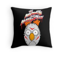 muppets beaker mashup friday the 13th Throw Pillow