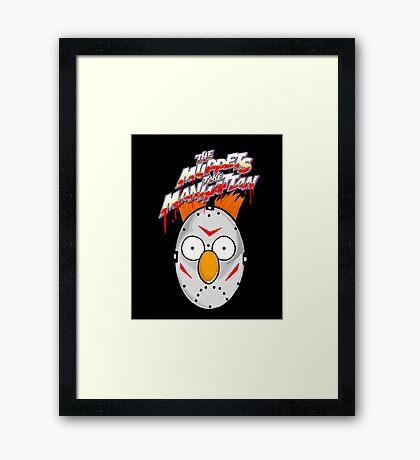 muppets beaker mashup friday the 13th Framed Print