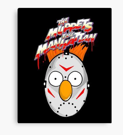 muppets beaker mashup friday the 13th Canvas Print