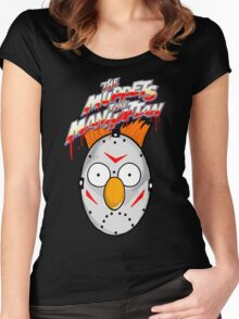 muppets beaker mashup friday the 13th Women's Fitted Scoop T-Shirt
