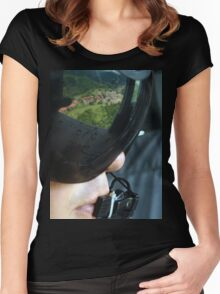 an incredible Panama landscape Women's Fitted Scoop T-Shirt