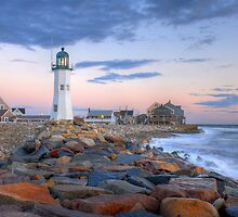 Morning Light On Scituate Harbor by Howard Simpson