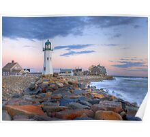 Morning Light On Scituate Harbor Poster