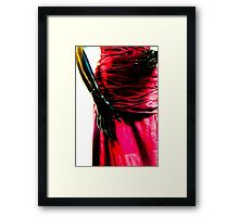 Just hands and a beautiful red dress Framed Print
