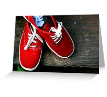 Red Tennis Shoes Greeting Card