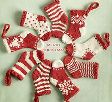 Christmas stockings by bunnyknitter