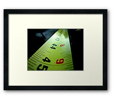 Measuring Tape Framed Print