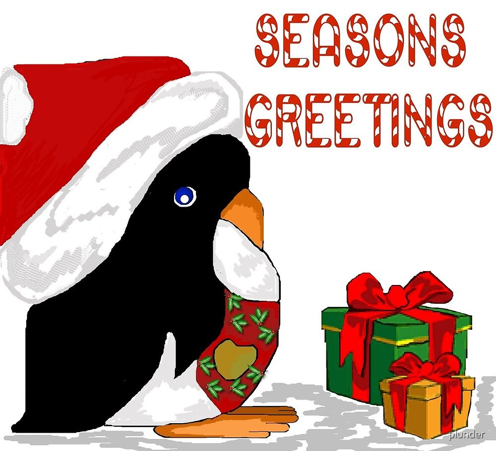 Seasons Greetings Penguin by plunder
