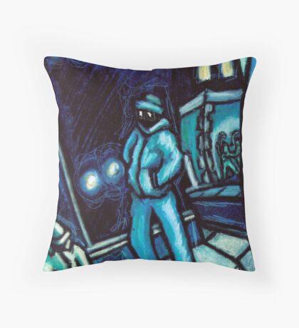 Blue walker no.2 Throw Pillow