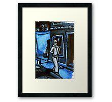 Blue Walker no.3 Framed Print