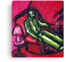 The Red chair (Apprehension Red) Canvas Print