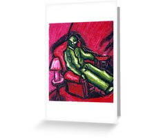 The Red chair (Apprehension Red) Greeting Card