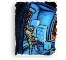 Boxes (Blue and Orange) Canvas Print