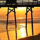 Pier At Sunset by JGetsinger