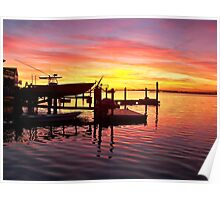 Evening Colors of Jamaica Bay Poster