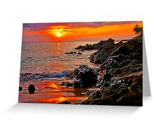 Sunset on Maui, Hawaii Greeting Card