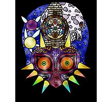 Majora's Mask Stained Glass Photographic Print
