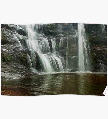 Waterfall art Poster