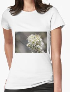 Plum Tree Blossoms Womens Fitted T-Shirt