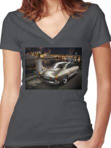 Mark's Volkswagen Karmann Ghia Women's Fitted V-Neck T-Shirt