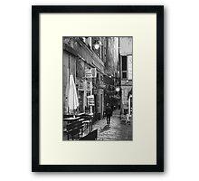 Alley Genoa 7 Framed Print