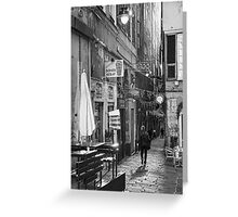 Alley Genoa 7 Greeting Card