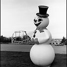 Snow Man, Santa's Village, Elgin, Illinois by Molly Russell